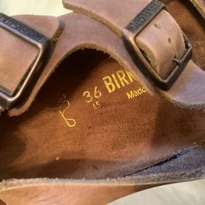 Birkenstock Shoes - Birckenstock women's brown sandal size 36